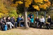 Weinwanderung Pause Vesper Weinberge Rastplatz
