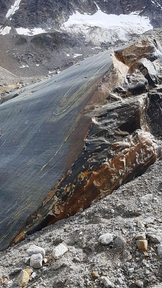 Pitztal Hochtourenkurs Gletscherschliff