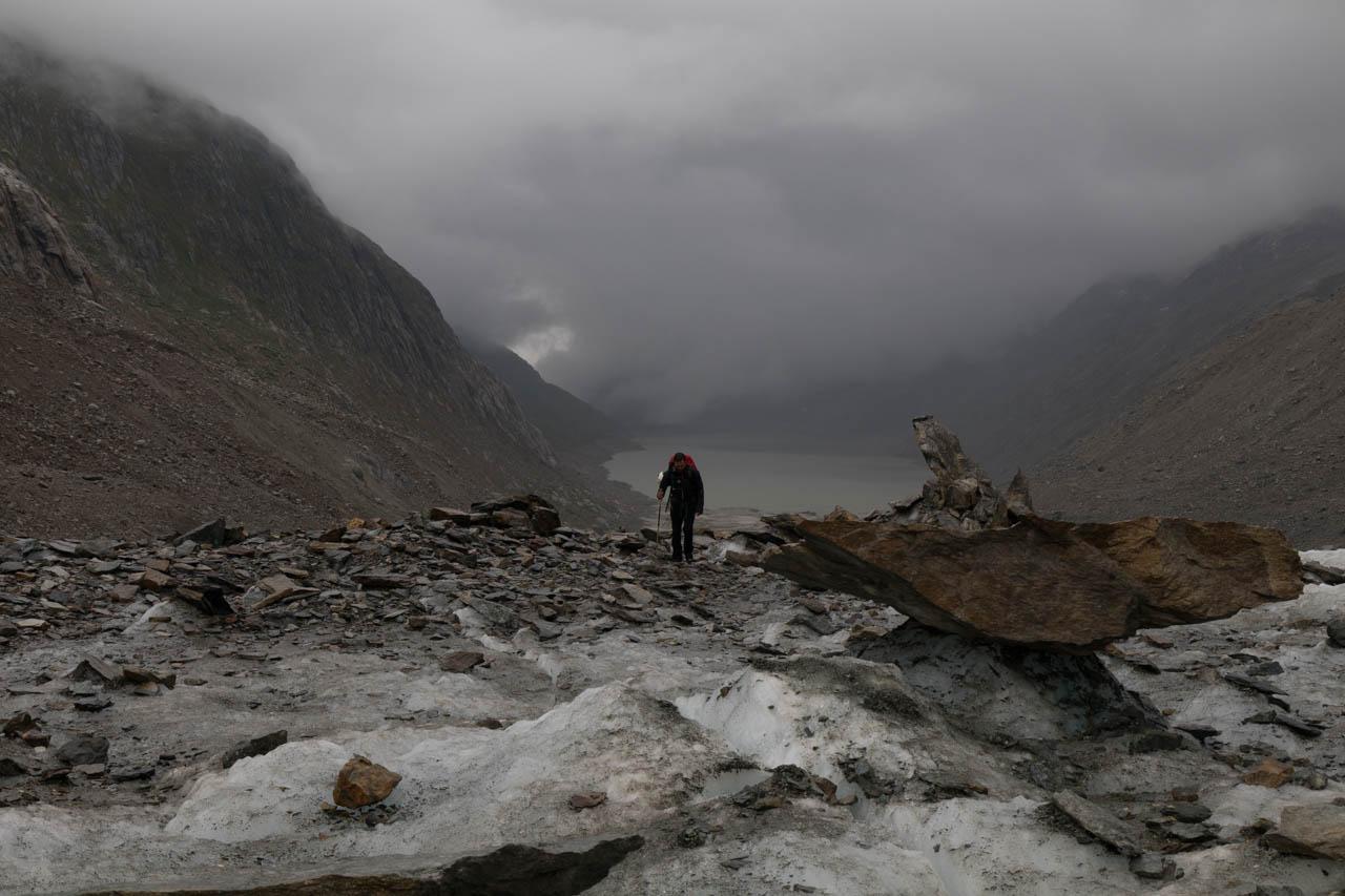 Oberaarsee- und gletscher