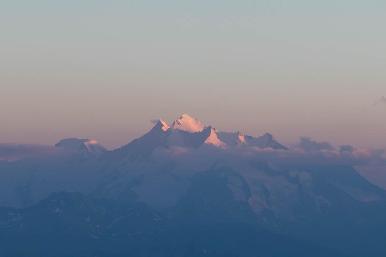 Dufourspitze Sonnenuntergang