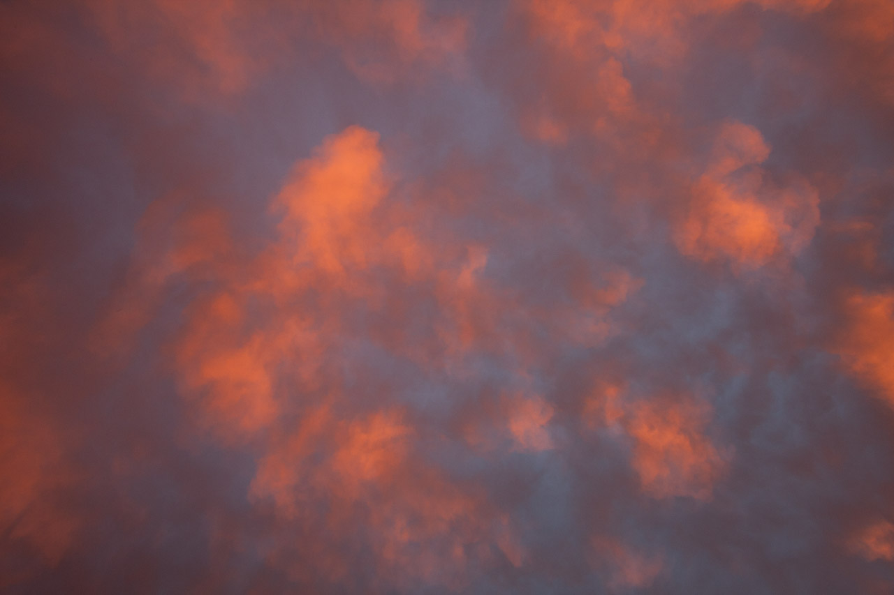Himmel in Bayern Pastell