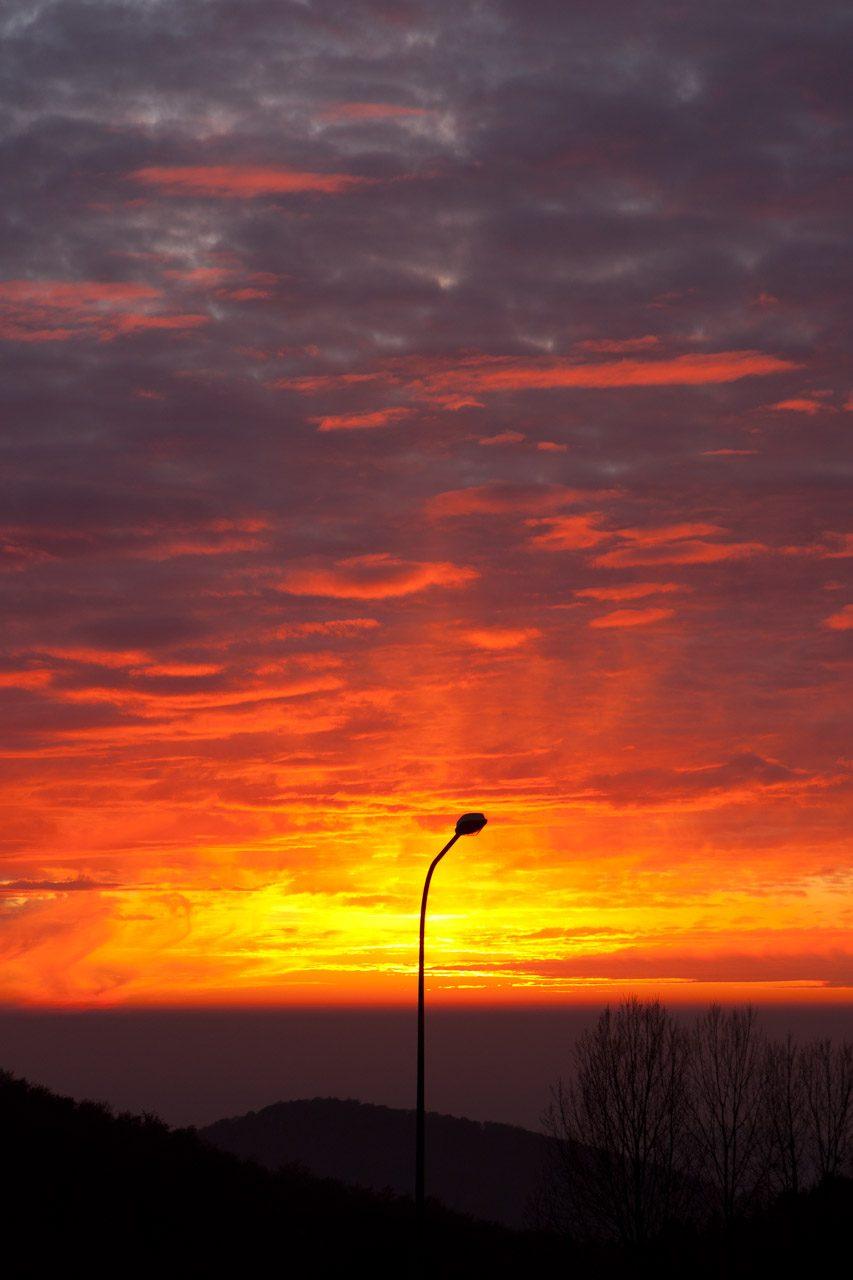 Sonnenuntergang mal anders im Odenwald