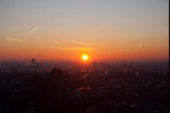 Sonnenaufgang in Frankfurt