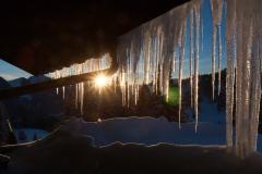 Spitzingsee Sonnenaufgang im Winter