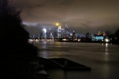Deutschherrnbrücke Frankfurt Nachtaufnahme